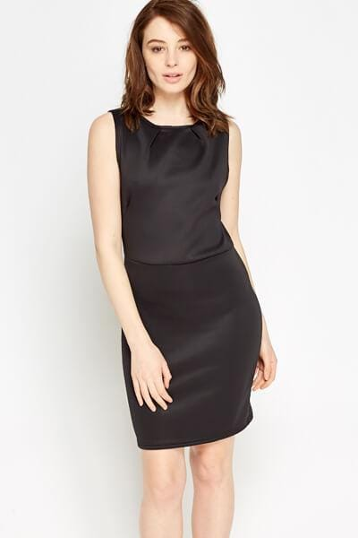 Bodycon Basic Dress S / Seide / Schwarz