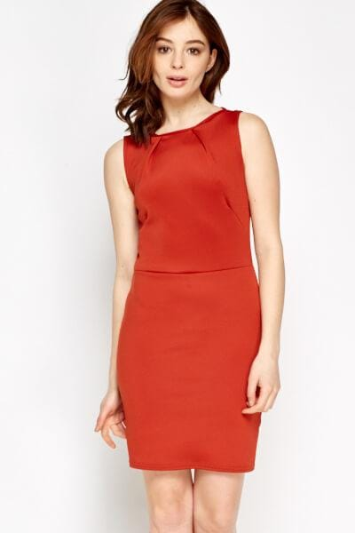 Bodycon Basic Dress S / Viskose / Rot