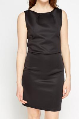 Bodycon Basic Dress M / Viskose / Schwarz