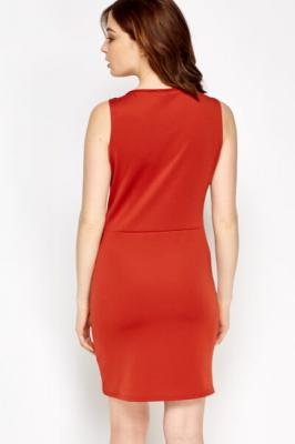 Bodycon Basic Dress M / Seide / Rot